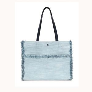 NWT Kate Spade Denim Light Blue LARGE Tote
